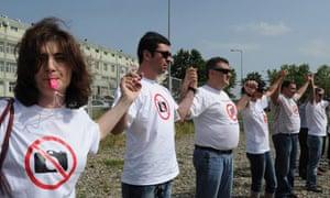 Protest against Georgian photographers' arrest 18/7/2011