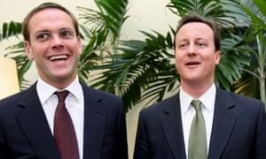 James Murdoch and David Cameron in 2007