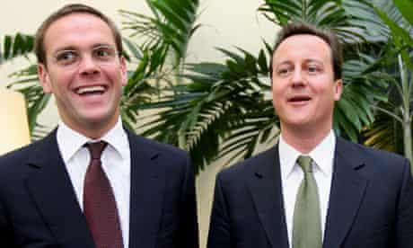 James Murdoch and David Cameron in 2007