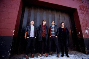 Mercury shortlist: Everything Everything outside the Sand Bar in Manchester