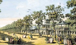 The Grand Walk in Vauxhall Gardens circa 1754