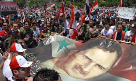 Syrians rally to support president
