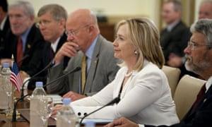 US secretary of state Hillary Clinton in New Delhi