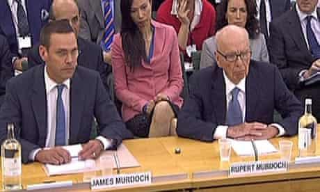 James and Rupert Murdoch face MPs