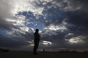 24 hours in pictures: Soldiers stand guard at a military base in the town of Casas Grandes