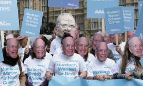 Avaaz demonstrates outside Parliament on Tuesday