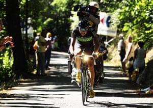 TDF Stage 17: Edvald Boasson Hagen rides up the Cote de Pramantino