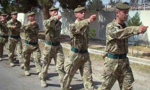 British soldiers in Lashkar Gah, Helmand province