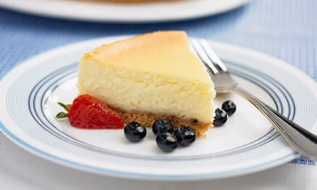 A slice of cheesecake
