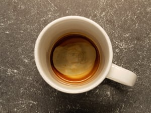 Religious Faces: Jesus sighting in a coffee cup