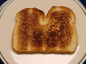 Religious Faces: Jesus sighting in toast