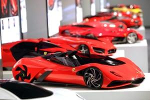 Ferrari design contest: The Ferrari designs displayed at Ferrari world design contest