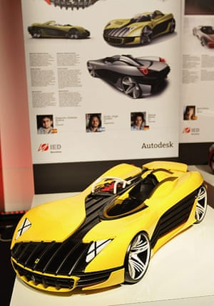 Ferrari design contest: A design from IED Barcelona is displayed at Ferrari World Design Contest