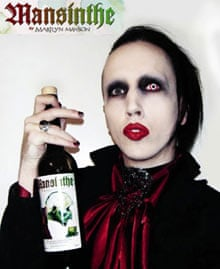 Marilyn Manson with his 'Mansinthe' absinthe