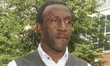 Linford Christie outside court