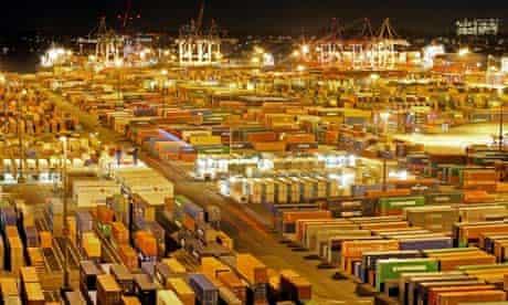Container storage site, Hamburg