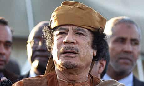 Muammar Gaddafi in April