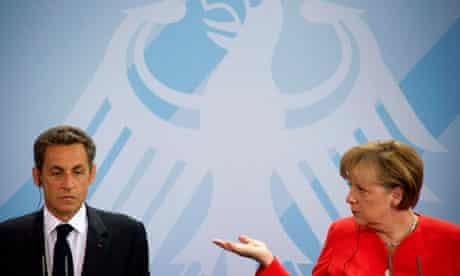 Angela Merkel and Nicolas Sarkozy