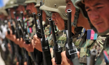 British troops handover to the Afghan counterparts in Lashkar Gah, Afghanistan