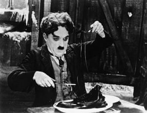 ten best: Charlie Chaplin in the Shoe-Eating Scene from The Gold Rush