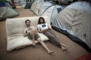 Tent City: Protest in Tel Aviv against rising cost of living.