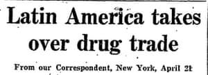 Latin America, drug trade