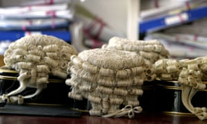 barrister wigs on display