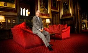John Bercow in Speaker's House in Westminster Palace.