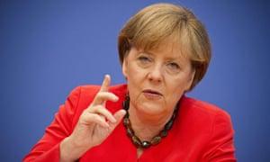 Angela Merkel addresses press conference