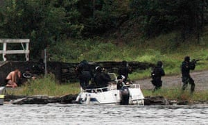 Norwegian Special Forces land on Utøya