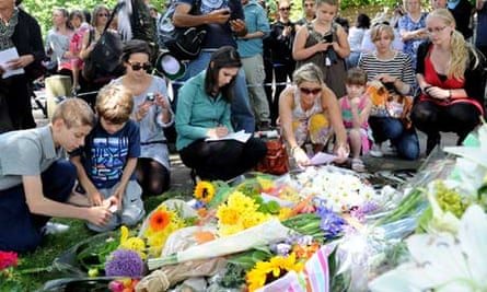 Amy Winehouse's home in north London was inundated by fans