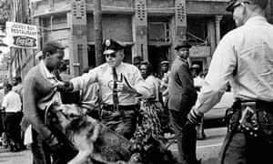 Civil rights protester, Birmingham, Alabama, 1963
