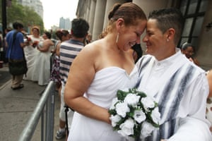 same-sex marriage: Maria Garcia and Maria Vargas
