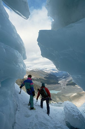 Canada Parks: Climbers on Athabasca Glacier