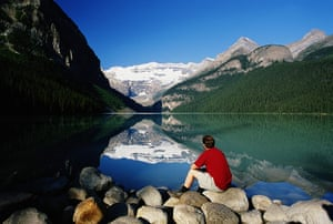 Canada Parks: Mount Victoria reflected in Lake Louise