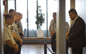 Norway attacks aftermath: Court officers observe a minute of silence