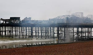 Hastings Pier fire