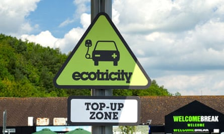 An Ecotricity car charging point