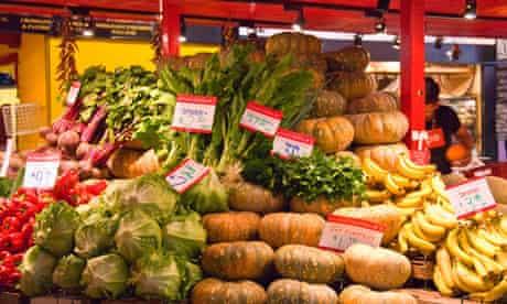 Fruit market stall. Image shot 2007. Exact date unknown.