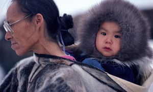 Inuit mother and child in Greenland