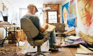 Jon Sarkin in studio