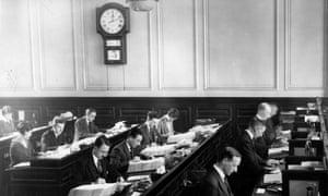 Clerks at work