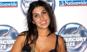 Amy Winehouse at the Mercury Music awards in 2004