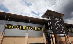 A closing Habitat store in Essex.