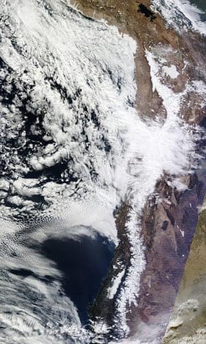 Satellite Eye on Earth: Rare Snow in Atacama Desert, Chile