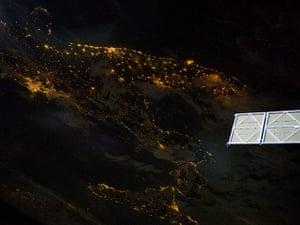 Satellite Eye on Earth: Southern Italian Peninsula at Night