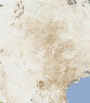 Satellite Eye on Earth: Drought in Texas and New Mexico