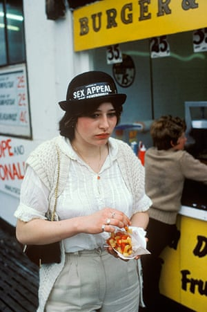 Blackpool: A girl with Sex Appeal has her chips