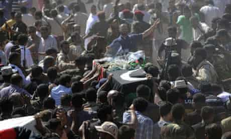 Abdel Fatah Younis funeral, Libya