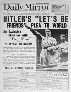 10 best newspaper scoops: Daily Mirror, 1936